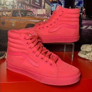 HOT PINK VAN'S High-Top Shoes Size 6 Wom 4.5 Men's